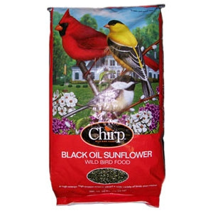 Chirp Black Oil Sunflower Seed 50lb $19.99
