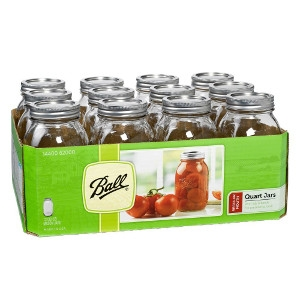 Ball® Regular Mouth Quart Mason Jars 12Pk $11.99