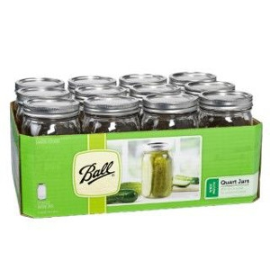 Ball® Wide Mouth Quart Mason Jars 12Pk $13.99