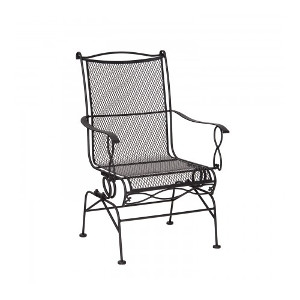 Rialto Mesh Coil Spring Rocker Dining Chair