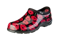 Sloggers Women's Red Poppies Waterproof Comfort Shoe