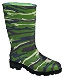 Ranger Splash Series Kids' Green Camo Rain Boot