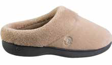 Isotoner Women's Mixed Microterry SS Hoodback Slipper