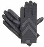 Isotoner Women's Spandex Shortie Gloves w/Leather Palm Strips