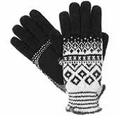 Isotoner Women's Chenille Fairisle Gloves
