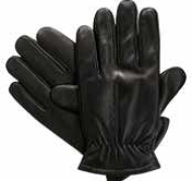 Isotoner Men's Smooth Leather Sherpasoft Lined Gloves