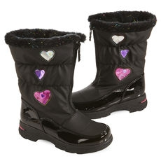 Totes Girls' Heartful Winter Boots