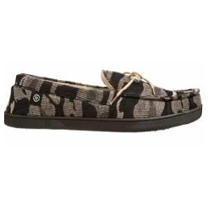 Isotoner Men's Peyton Heathered Knit Camo Moc Slipper