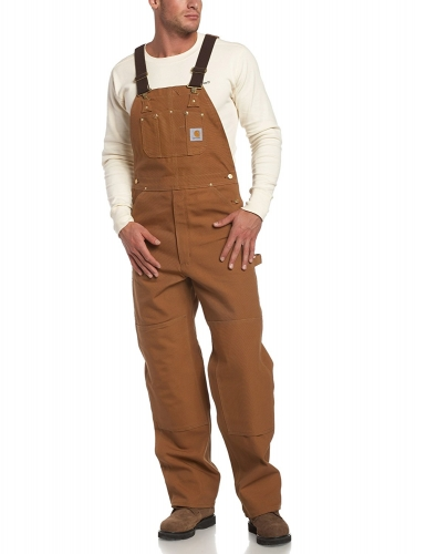 Carhartt Zip-to-Thigh Bib Overalls/Unlined