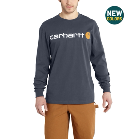 Carhartt Long Sleeve Logo Tee Shirt