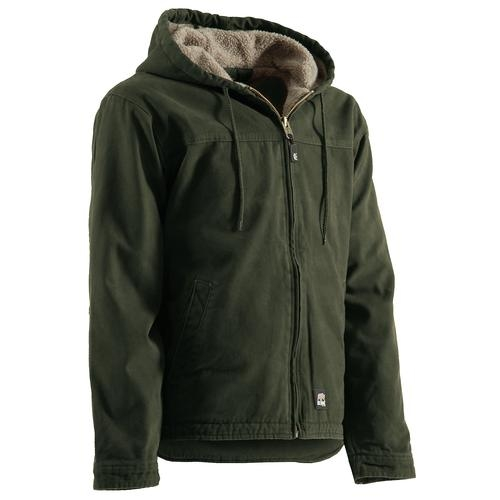 Berne Men's Washed Hooded Work Coat
