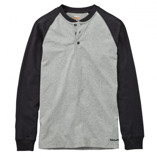 Timberland Pro Men's Cotton Core Long Sleeve Henley Shirt
