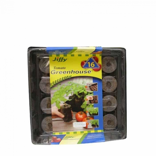 Jiffy 16-count Peat Pellet Tomato Greenhouse