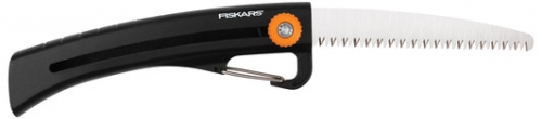 Fiskars Power Tooth Sliding Pruning Saw w/Carabiner Clip