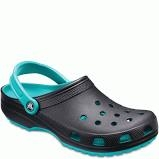 Crocs Women's Classic Carbon/Tropical Teal Clog