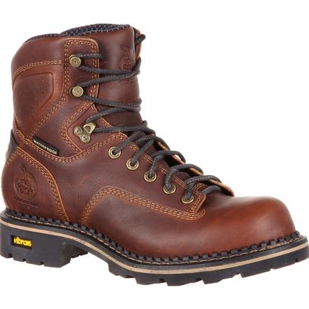 Georgia Boot Comfort Core Low Heel Waterproof Logger Work Boot