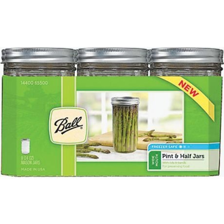 Ball Pint & a Half Wide Mouth Canning Jars 9 Pack