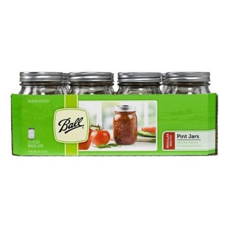 Ball Regular Mouth Pint Canning Jars 12 Pack