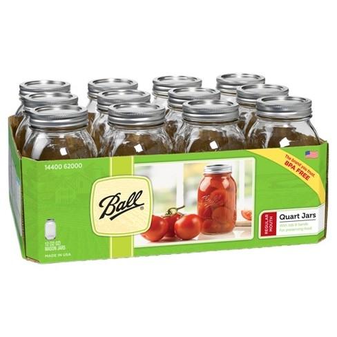 Ball Regular Mouth Quart Canning Jars 12 Pack