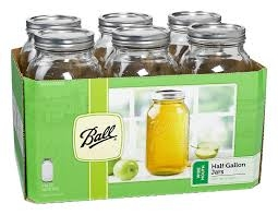 Ball Half Gallon Wide Mouth Canning Jars 6 Pack