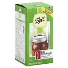 Ball Sure-Tight Regular Mouth Canning Lids and Bands Set of 12
