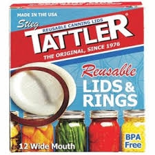 Tattler Reusable Wide Mouth Canning Lids & Rings