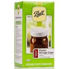 Ball Regular Mouth Reusable Plastic Storage Caps Pack of 8