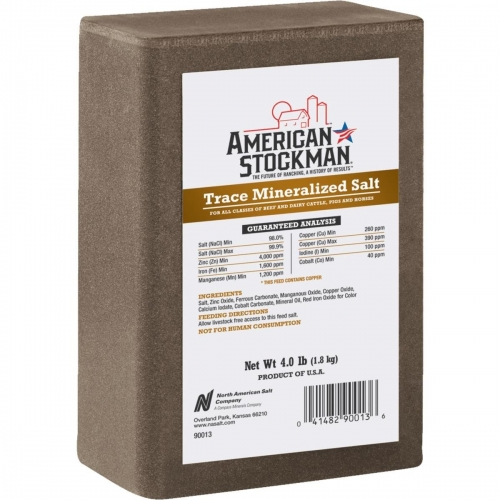 American Stockman Trace Mineralized Salt Block