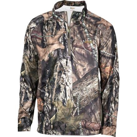Men's Rocky Silent Hunter 1/4 Zip Camo Waterproof Wind Shirt