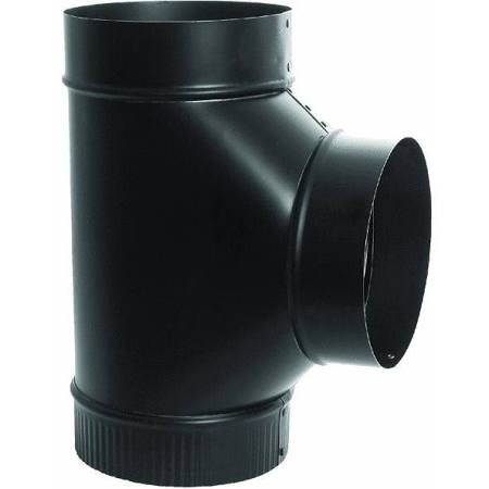 6 Inch Black Stove Pipe Tee
