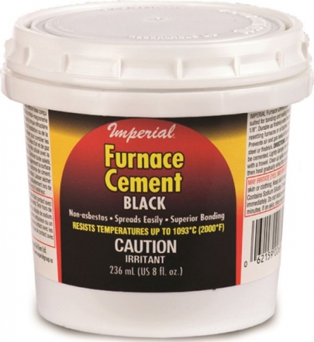 Imperial 8 oz. Black Furnace Cement