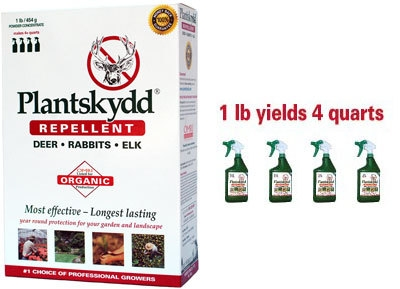 Plantskydd Organic Repellent for Deer, Rabbits, and Small Animal Pests