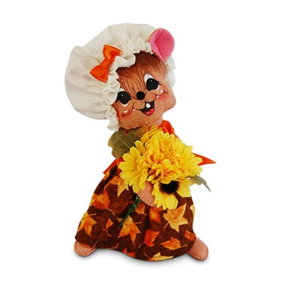 Annalee 8 inch Autumn Girl Mouse