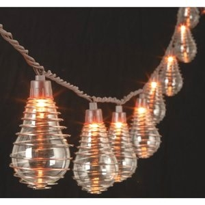 Gerson Edison Bulb Wire Spiral String Patio Light Set