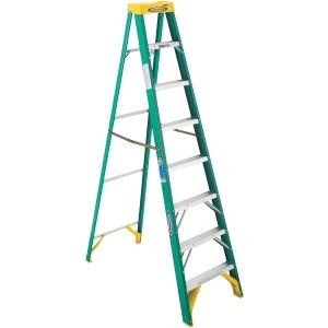 Werner T-2 Fiberglass Step Ladder 8 ft.