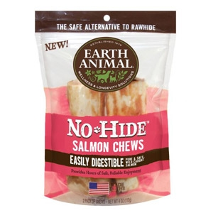 "Earth Animal® No-Hide Salmon 7"" 2-Pack Chews"