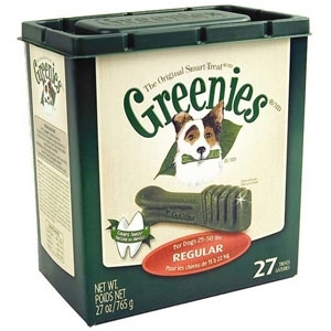 Select 27oz Tubs of Greenies Now $29.99