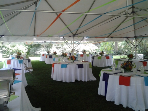 Colorful Party Tents