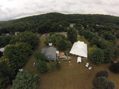 Aerial View of an Event