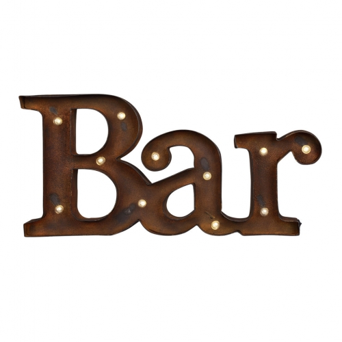 Bar Sign Rustic Metal