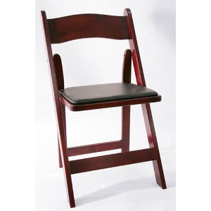 <p>Red Mahogany Folding Padded Chairs</p>