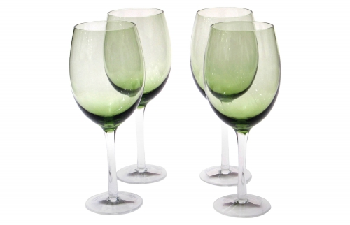 20oz Green Wine Glass