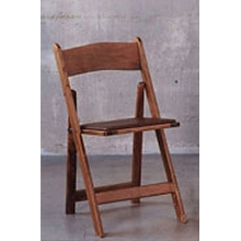 Walnut Wooden Folding Padded Chair