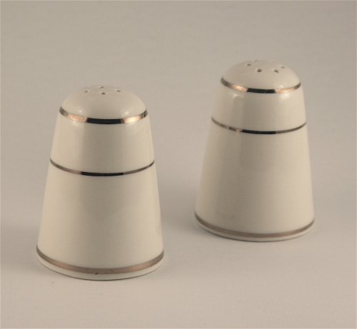 Ivory Gold Band Salt and Pepper Shaker