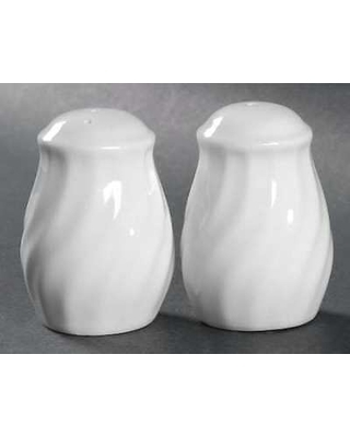 White Swirl Salt and Pepper Shaker
