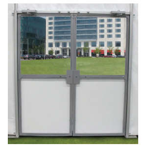Glass Double Tent Doors