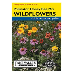 Lake Valley Seed Pollinator Honey Bee Mix Wildflower Seeds