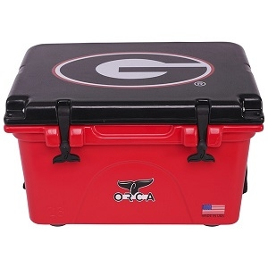 Orca Red/Black University of Georgia Cooler