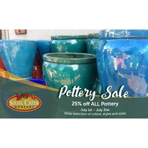 25% OFF all Pottery
