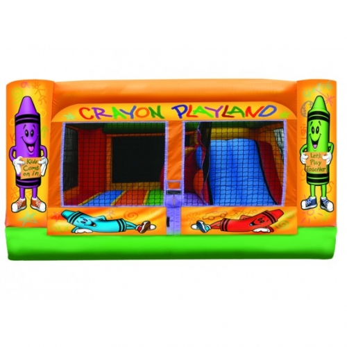 Crayon Mini Playground 3 in 1 Inflatable Bounce House